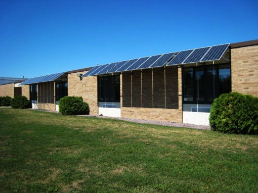Solar panels on school